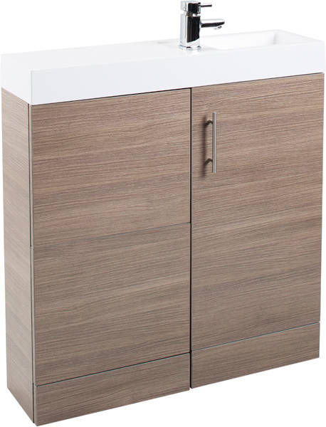 Additional image for Cube Plus Pack With Oak Vanity, BTW Unit & Basin (RH).