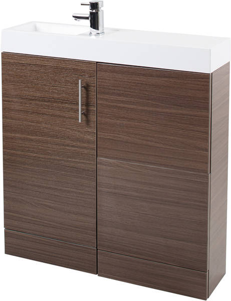 Additional image for Cube Plus Pack With Walnut Vanity, BTW Unit & Basin (LH).