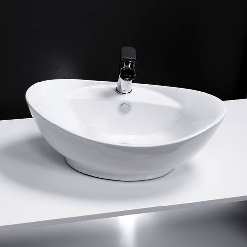Additional image for Oval Counter Top Basin 600x390mm (1 Tap Hole).