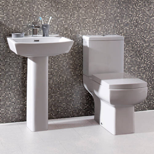 Additional image for Daisy Lou Suite With Comfort Height Toilet, Seat, Basin & Full Pedestal.