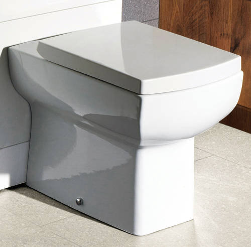 Additional image for Daisy Lou Suite With BTW Toilet Pan, Seat, Basin & Semi Pedestal.