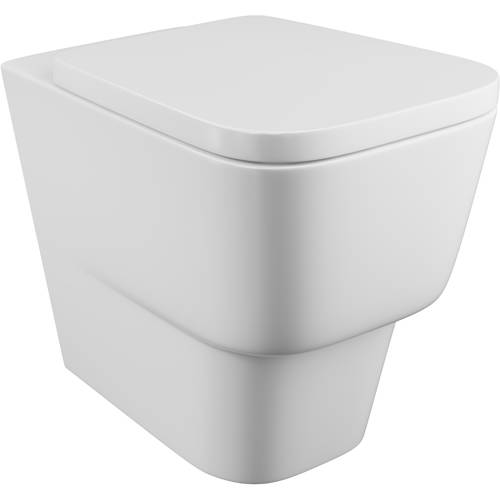 Additional image for Dearne Back To Wall Toilet Pan & Wrapover Seat.