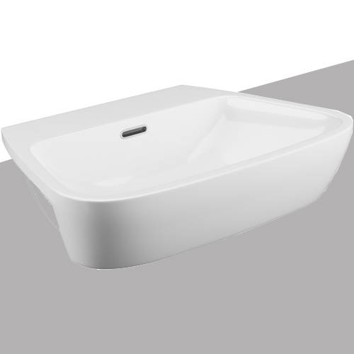 Additional image for Dearne Bathroom Suite With Wall Hung Pan & Semi Recessed Basin.