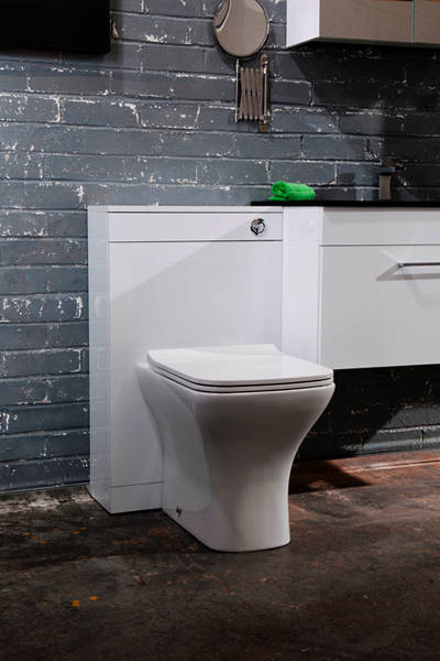 Additional image for Fair Back To Wall Toilet Pan & Slimline Seat.