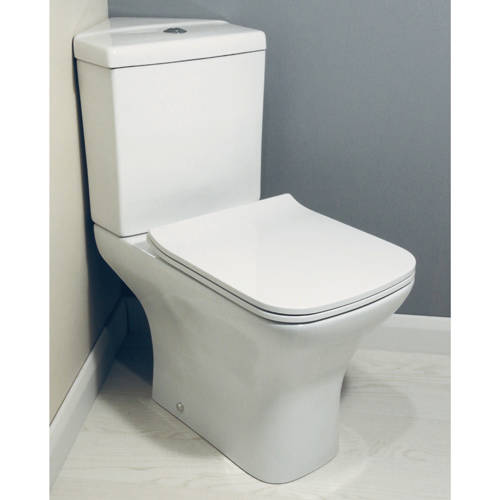 Additional image for Fair Bathroom Suite With Corner Toilet, Seat, Basin & Pedestal.