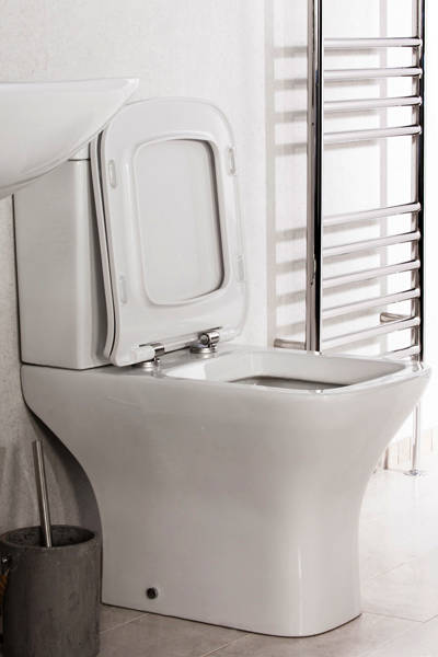 Additional image for Fair Bathroom Suite, Toilet, Slimline Seat, Corner Basin & Pedestal.