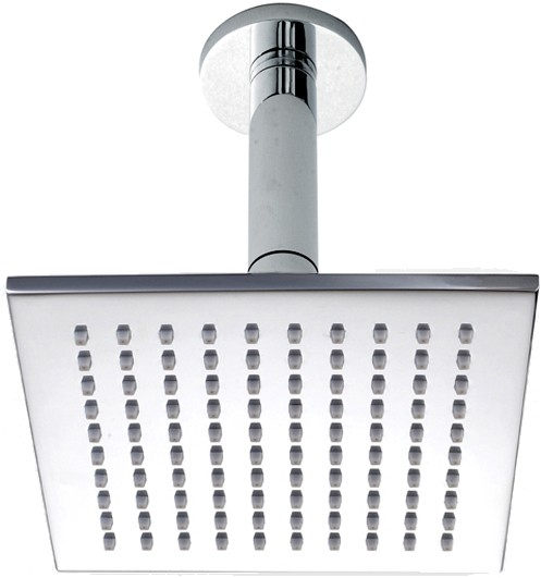 Additional image for Square Shower Head With Ceiling Mounting Arm (200mm).