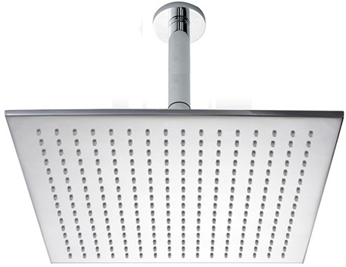 Extra Large Square Shower Head & Arm (400x400mm). Hydra