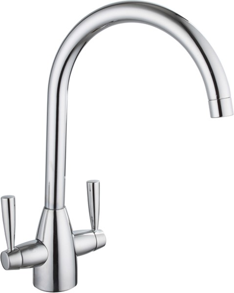 Additional image for Mia Kitchen Tap With Twin Lever Controls (Chrome).