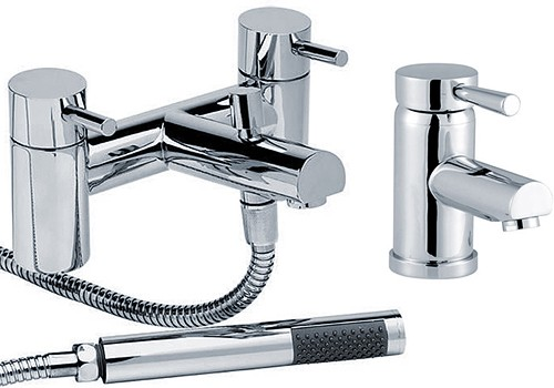 Basin Amp Bath Shower Mixer Tap Set Free Shower Kit Hydra Malton Hi Malton Aa