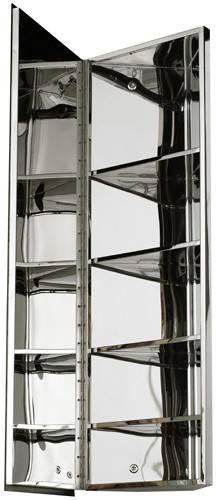 Additional image for Corner Mirror Bathroom Cabinet 1200x300mm (S Steel).