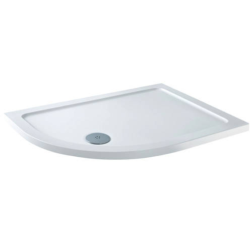 Additional image for Offset Quadrant Shower Tray & Waste 900x760mm (LH).
