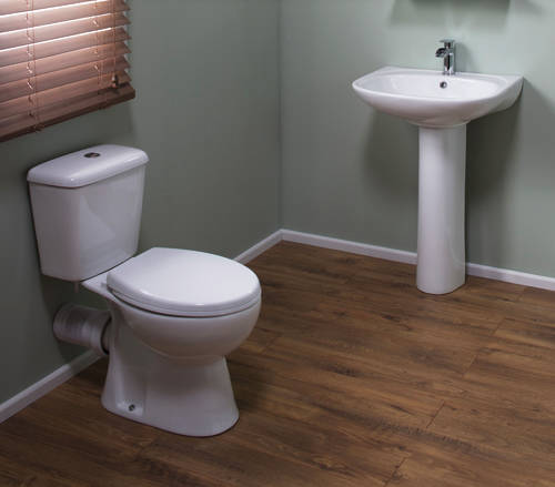 Additional image for En Suite Bathroom Pack With Offset Enclosure 1000x800mm (LH, 6mm).