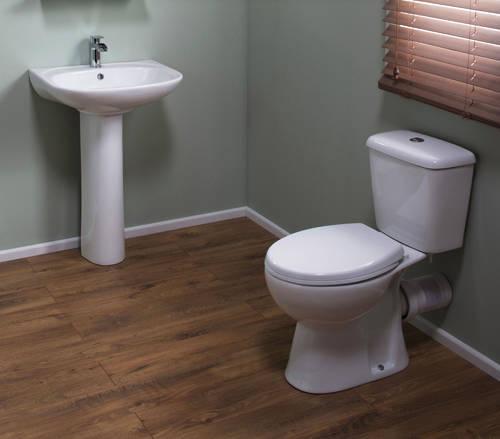 Additional image for En Suite Bathroom Pack With Offset Enclosure 1200x900mm (RH, 6mm).