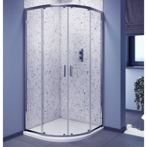 Additional image for 800mm Quadrant Shower Enclosure With Chrome Frame (6mm).