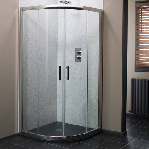 Additional image for 800mm Quadrant Shower Enclosure With 6mm Glass (Chrome).