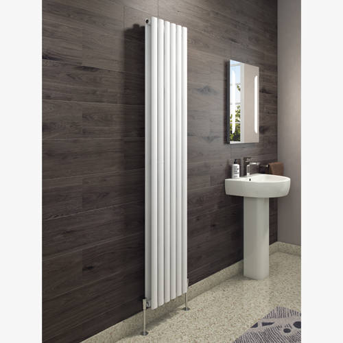 Additional image for Celsius Double Panel Vertical Radiator 1800x354mm (White).
