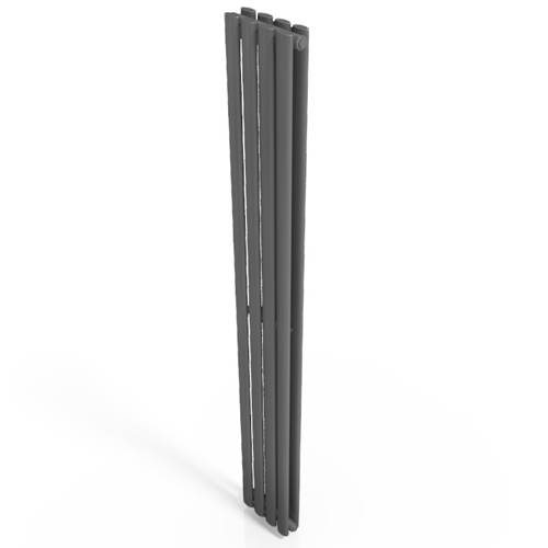 Additional image for Celsius Double Panel Vertical Radiator 1800x236mm (Anthracite).