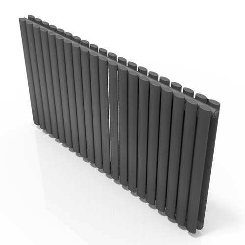 Additional image for Celsius Double Panel Radiator 633x1180mm (Anthracite).