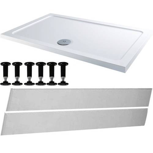 Additional image for Rectangular Easy Plumb Stone Resin Shower Tray 1200x760mm.