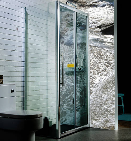 Additional image for 1400x900mm Shower Enclosure With Sliding Door (8mm Glass).