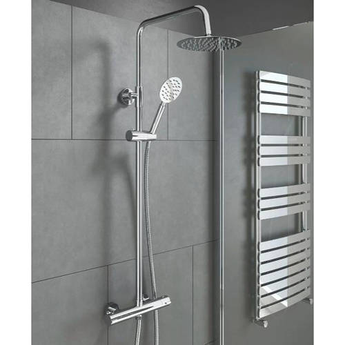 Additional image for Videira Complete Thermostatic Shower Pack (Chrome).