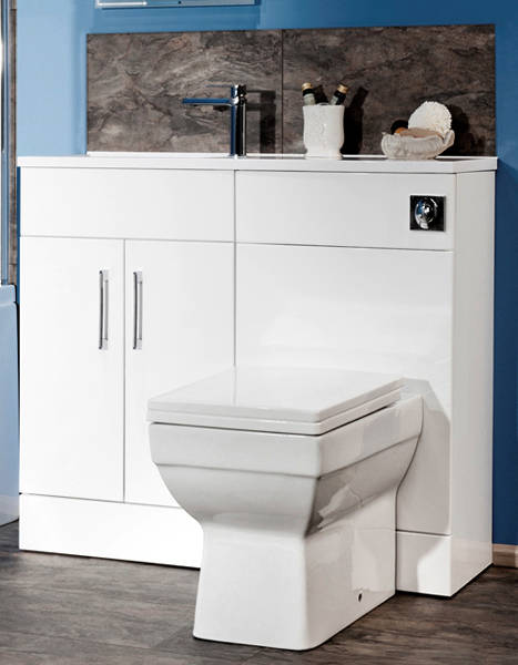 Additional image for Slimline Pack With White Vanity, BTW Unit & Basin (LH).