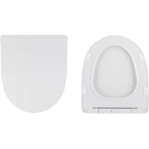 Additional image for Spek Slimline Heavy Duty Soft Close Toilet Seat (White).