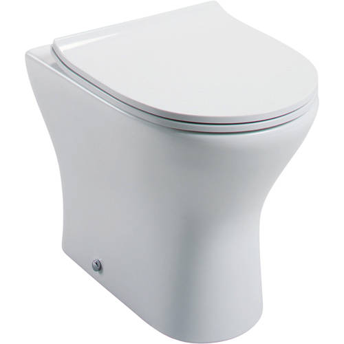Additional image for Spek Back To Wall Toilet Pan & Slimline Seat.