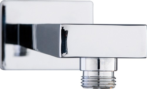 Additional image for Square Wall Mounting Shower Arm (345mm, Chrome).
