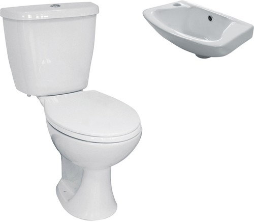 Additional image for 3 Piece Bathroom Suite With Toilet & Small Basin.
