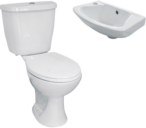 Additional image for 3 Piece Bathroom Suite With Toilet & Basin.