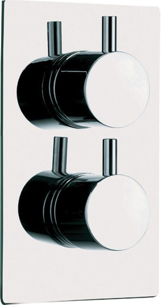 Additional image for Thermostatic Twin Shower Valve With Round Handles.