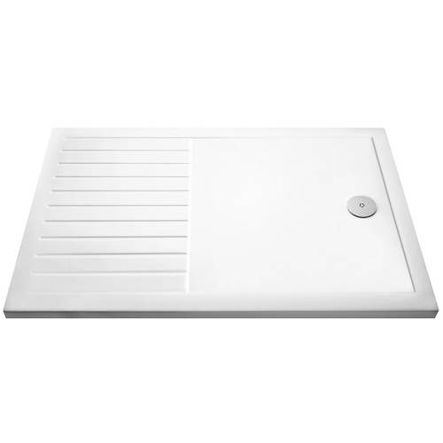 Additional image for Walk In Shower Tray With Drying Area 1400x900mm (Low Profile).