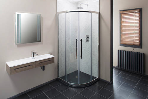Additional image for 800mm Quadrant Shower Enclosure With 8mm Thick Glass (Chrome).