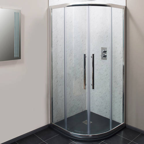 Additional image for 900mm Quadrant Shower Enclosure With 8mm Glass & Slate Tray.