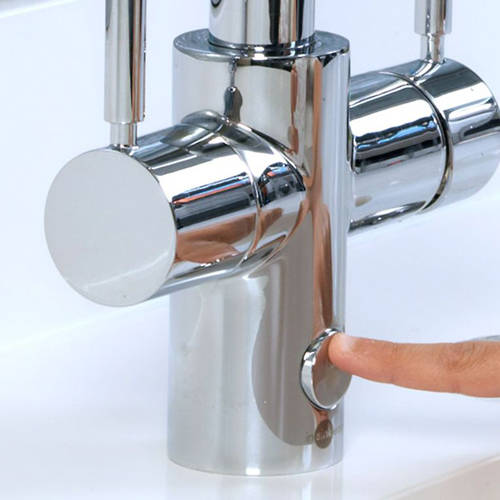 Additional image for 4N1 U Shape Steaming Hot Kitchen Tap (Brushed Steel).