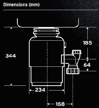 Additional image for Evolution 250 Continuous Feed Waste Disposal Unit.