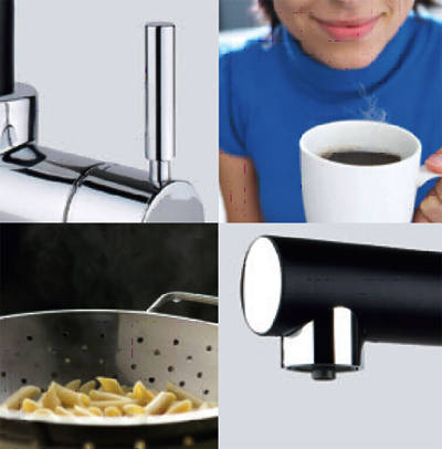Additional image for Boiling Hot & Cold Water Kitchen Tap (Satin Black).
