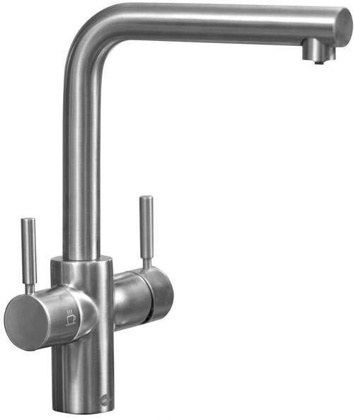 Additional image for Boiling Hot & Cold Water Kitchen Tap (Brushed Steel).