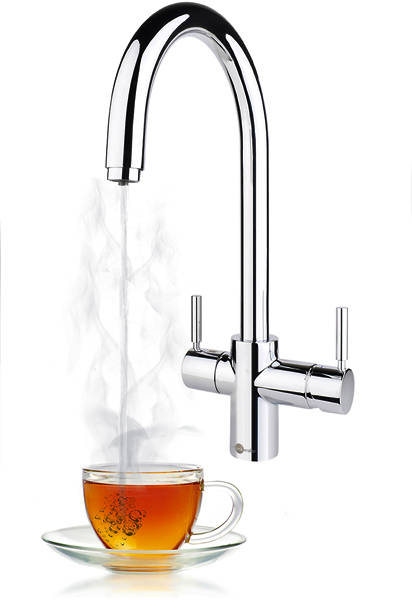 Additional image for 3N1 J Shape Steaming Hot Kitchen Tap (Chrome).