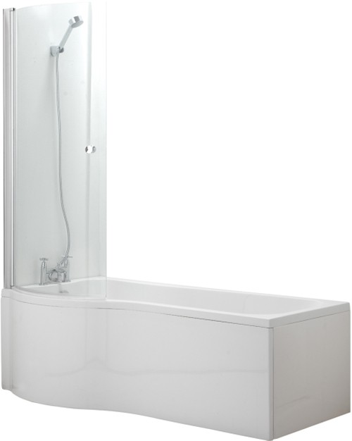 Additional image for Complete Shower Bath Suite (Left Hand). 1500x750mm.