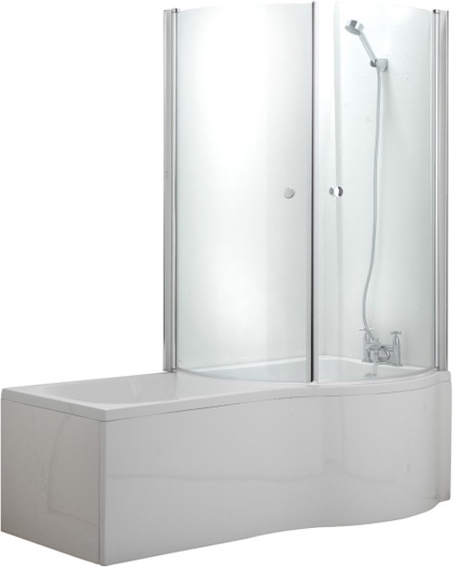 Additional image for Complete Shower Bath Suite With 2 Screens. (Right Hand). 1500x750mm.
