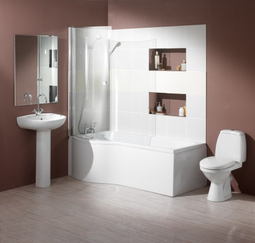 Additional image for Complete Shower Bath Suite (Left Hand). 1700x750mm.
