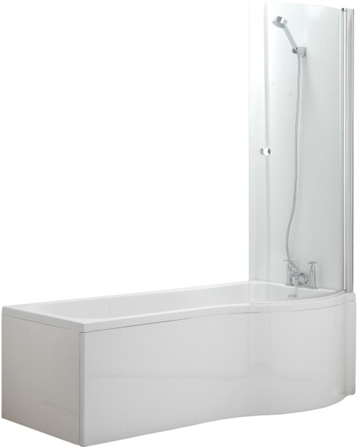 Additional image for Complete Shower Bath Suite (Right Hand). 1700x750mm.