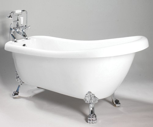 Additional image for Eton Slipper Roll Top Bathroom Suite. 1710x740mm.