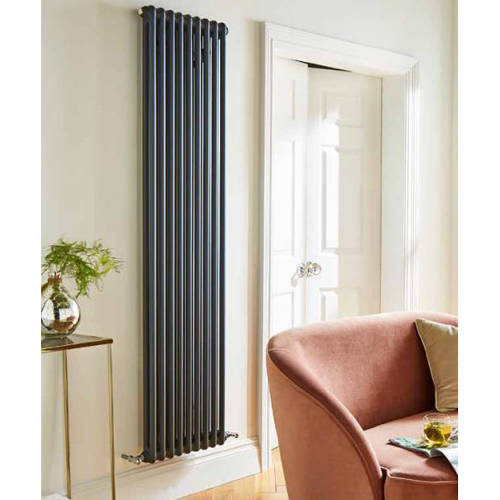 Additional image for Laser Klassic Vertical Radiator 335x1800mm (2 Col, Anthr).