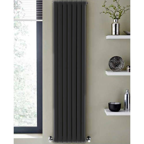 Additional image for Aspen Radiator 540W x 1800H mm (Double, Anthracite).
