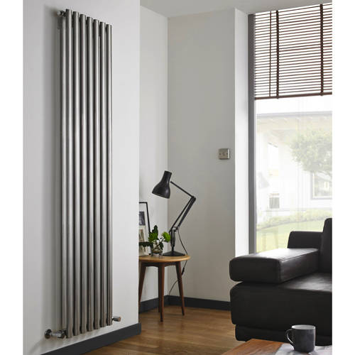 Additional image for Aspen Radiator 450W x 1800H mm (Double, Stainless Steel).