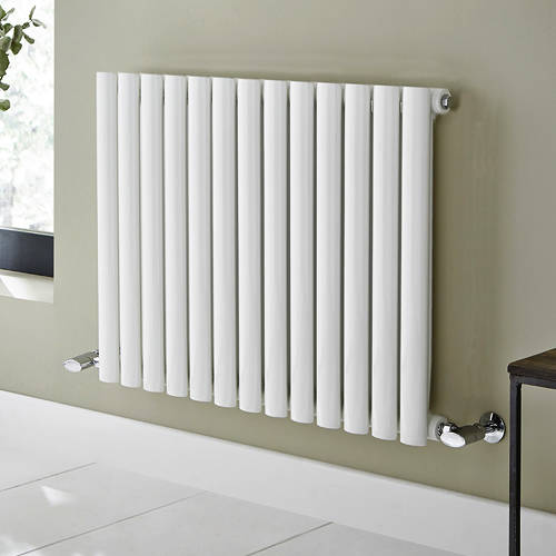 Additional image for Aspen Radiator 360W x 600H mm (Single, White).